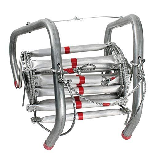 ASYTI Fuego de Salida de Emergencia Escalera de Formación de Auto-Rescate de Escalada Escalera de Cuerda Suave Escape de la Ventana balcón de la Historia del cojinete de Escape (Color : 5M)