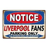 リバプールファンの駐車場のみ 金属板ブリキ看板警告サイン注意サイン表示パネル情報サイン金属安全サイン