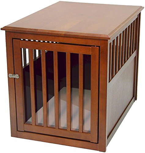 4. Crown Pet Products Wood Crate Table