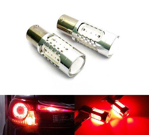 2 x rouge 382 P21 W 1156 BA15S Ampoule à baïonnette Plasma LED Feu de position latéral Indicateur Tour Signal lumière Feux Stop à brouillard arrière