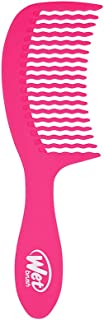 Wet Brush Detangler Hair Brush Wave Tooth Comb (Pink)