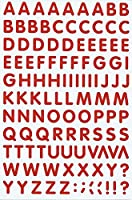 (シャシャン)XIAXIN 防水 PVC製 アルファベット ステッカー セット 耐候 耐水 ローマ字 キャラクター 表札 スーツケース ネームプレート ロッカー 屋内外 兼用 TS-541 (1点, レッド)
