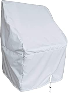 QEES Boat Center Console Cover, Heavy Duty Waterproof Cover for Center Console Boat Helm or Boat Flip-Flop Seat, Easy to Install/Secure 44