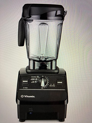 Vitamix 6500 Improved 6300 More Powerful, Fits Under Cabinet Model, Featuring 3 Pre-Programmed Settings, Black