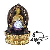 Fuente de Escritorio clásica de Buda, Estatua de Buda Sentado meditando en...