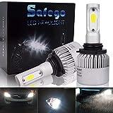 Safego Bombilla 9006 LED Coche, 2x 72W 8000LM 9006 HB4 LED Faros Delanteros Bombillas, Faros Reemplazo de Halógena y Kit Xenón HB4, Lámpara Luz 6500K Blanca 12V-24V, Garantía de 1 años