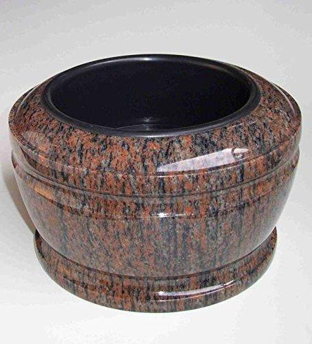 designgrab Bol funéraire exclusif - Diamètre : 25 cm - En granit Gneis Halmstad/Barap