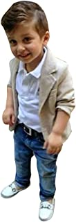 Evelin Lee 3pcs Kids Baby Boy Gentleman Coat Jacket+Shirts+Jeans Pants Trousers Clothes Outfits Set