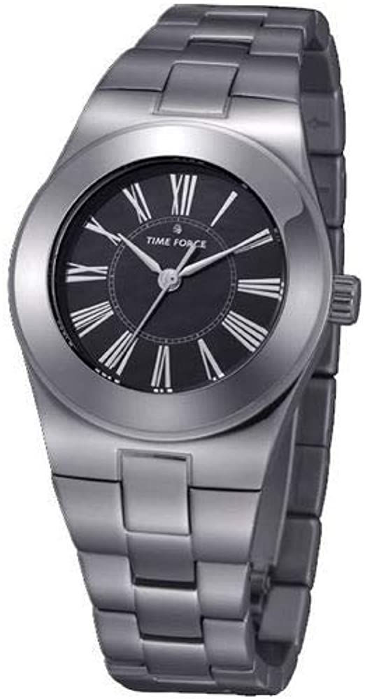 Time Force Reloj analogico para Mujer de Cuarzo con Correa en Acero Inoxidable TF4003L03M