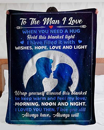 Gift To The Man I Love When You Need Hug Hold Esta manta apretada siempre tiene Will Manta de forro polar – Manta de visón Sherpa – Manta de forro polar – Manta de sherpa premium