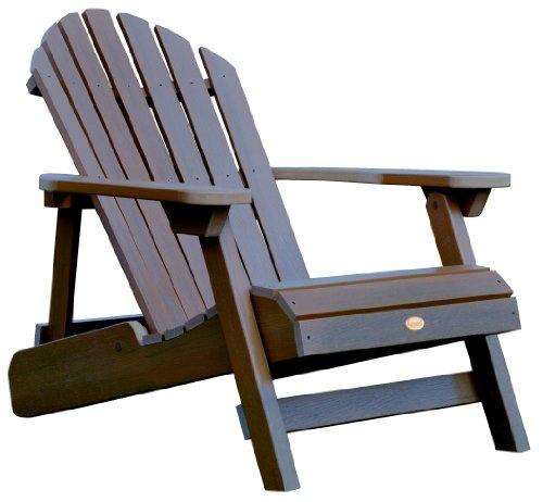 Highwood Colección Adirondack Butaca reclinable y Plegable, Acacia, 73.6x91.4x86.8 cm