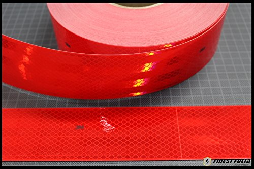 1m 3M Diamond Grade 983 Rot Scotchlite Konturmarkierung Reflexfolie Reflexband (1 Meter)