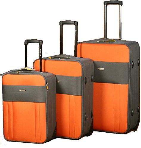 Roncato Juego de Maletas Naranja Naranja Set 3 Trolley