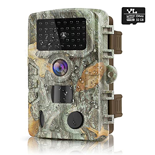 """HAWKRAY 1080P 24MP Trail Camera, Hunting Camera with 120°Wide-Angle Motion Latest Sensor View 0.2s Trigger Time Trail Game Camera with 940nm No Glow,H.264 Video Night Vision 2.0"""" LCD IR 47 LEDs"""