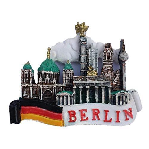Aisoway Lugares 3D Berlín Alemania Resina Frigorífico Tips Memorial Hecho a Mano imán Recuerdo del Arte Colección decoración del hogar