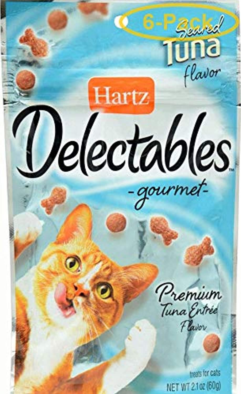 Hartz Delectables Gourmet Treats for Cats Seared Tuna 2.1 Oz.  Pack of 6