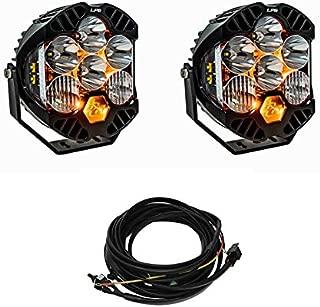 Baja Designs Pair LP6 Pro LED White Driving/Combo Light + Harness Kit