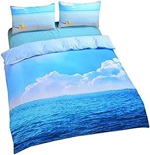 Sleepwish 3 Piece Starfish Bedding Cool 3D Print Soft Duvet Cover Set Ocean Bedding Queen