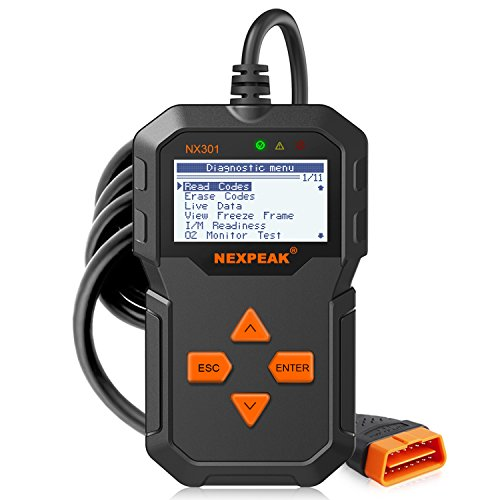 OBD2 Reader NEXPEAK NX301 Universal OBDII Car Diagnostic...