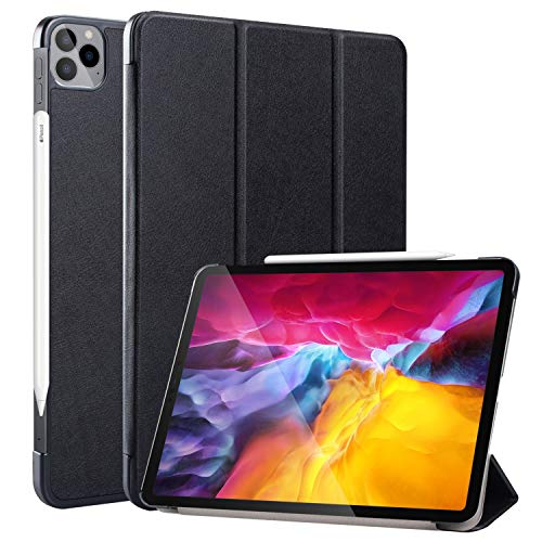 Neepanda Case for New iPad Pro 11 2020 2nd Generation, [Support Apple Pencil Charging] Slim Lightweight Smart Tri-Fold Stand Case for iPad Pro 11 inch 2nd Gen 2020 Released, Auto Wake/Sleep,Black