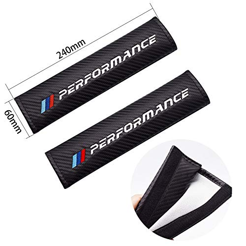 ZfgG 2x Car Vehicle Seatbelt Shoulder Pad For BMW Color E90 E91 E92 F07 F10 F15 F16 F20 F30 G30 E60 E61 E62 Interior Accessories (Color Name : M)
