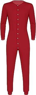 QinCiao Men's Long Sleeve Leisure Solid Bodysuit Jumpsuits Leotard Sleepwear Homewear Rompers