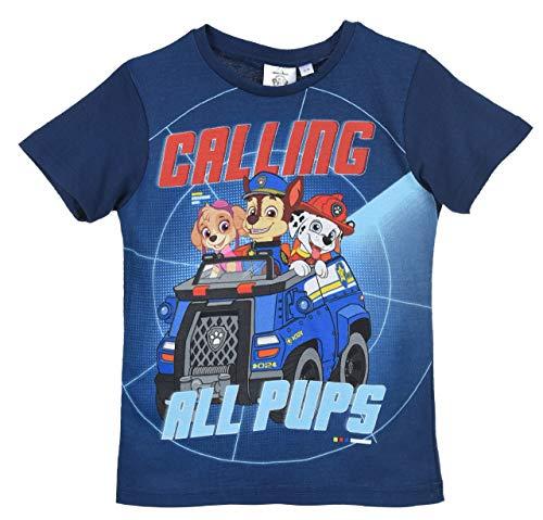 Paw Patrol Camiseta de Manga Corta para niños 100% algodón
