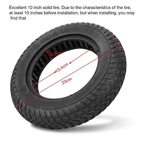 BOLORAMO Resistencia al Desgaste de neumáticos sólidos, Adecuado para Scooter eléctrico de 10 ''(Black (Small), Blue)