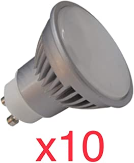 Led Atomant Pack 10x GU10 7W Halogeno LED 680 lumenes Reales Color Blanco cálido 3000K. Angulo 120 Grados, 7 W, 50 Mm