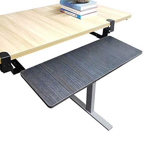 Keyboard Tray Under Desk,Sliding Platform Shelf Keyboard Shelf Desk Extension Ergonomics Computer Elbow Arm Support for Keyboard and Mouse