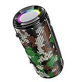 Altavoces portátiles Bluetooth Altavoz al Aire Libre Sonido de la iluminación Colorida inalámbrica del Altavoz Colorido del Bluetooth de los Deportes pequeño,Camouflage Green,221 * 101 * 99