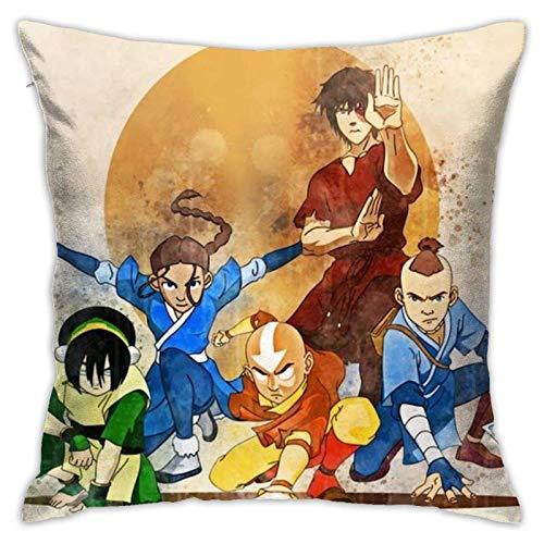 Azula - Avatar The Last Airbender - Fan Art Square Pillowcase Throw Pillow Cover Soft Pillow Case Home Decor for Living Room Sofa Car Cushion Cover 18X 18