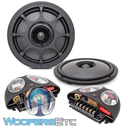 Morel Virtus Nano Integra 602 Carbon 6-1/2' 2-Way Carbon Thin Coaxial Speakers