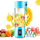 DOTSOG Portable Blender,Household Juicer Cup 380ml Fruit Mixer Bottle with Stainless Steel 6-Blades...