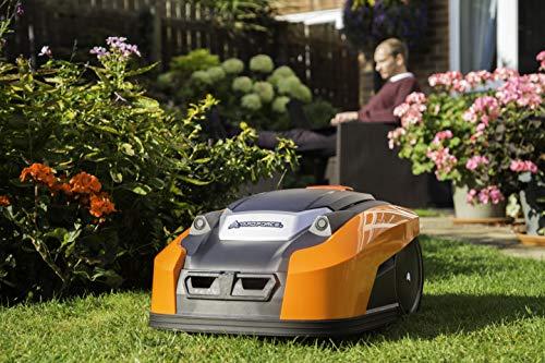 Yard Force YardForce X100i Mähroboter mit App-Steuerung - Selbstfahrender Rasenmäher Roboter mit Multizonen-Programm - Akku Rasenroboter für bis zu 1000 m² Rasen & 40% Steigung, 28 V, schwarz/orange - 6