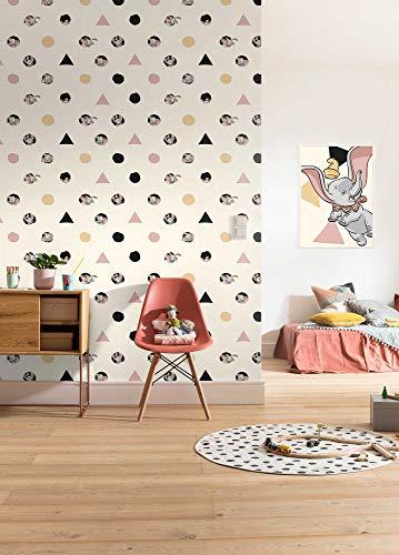 Komar Disney Vlies Fototapete Dumbo - Angles & Dots | Tapete, Kinderzimmer, Babyzimmer, Dekoration | Größe 200 x 280 cm | DX4-003