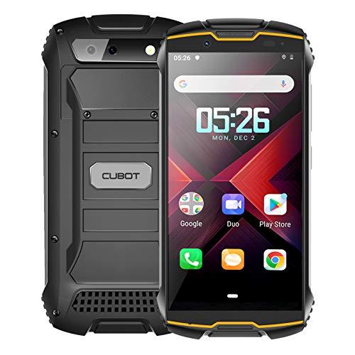 CUBOT Kingkong Mini 2 Móvil Resistente al Golpes, Smartphone 4G con 4 Pulgadas Pantalla, Android 10, 3GB RAM+32GB ROM(SD 128Gb Ampliable), Cámara 13MP+8MP, Dual SIM, Face ID, GPS, Naranja