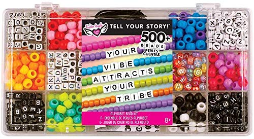 Fashion Angels DIY Alphabet Bead Case (12354), 500+ Colorful Charms and Beads, Screen-Free/Arts and Craft/ Jewelry Making, Great Gift or Reward, Recommended for Ages 8 And Up