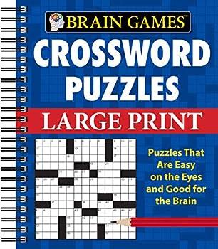 Brain Games - Crossword Puzzles - Large Print  Blue