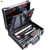 BricoLoco Maletín caja herramientas completo. Kit surtido mantenimiento. Calidad profesional cromo vanadio. Set organizador. Maleta herramientas de mano. 91 PIEZAS.