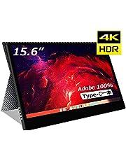 cocopar2019最新15.6インチ4k(3840*2160) Adobe100%色域 モバイルモニター/モバイルディスプレイ/薄型/IPSパネル/USB Type-C/HDMI/厚さ4mm/重さ830g/保護カバー付【3年間保証】