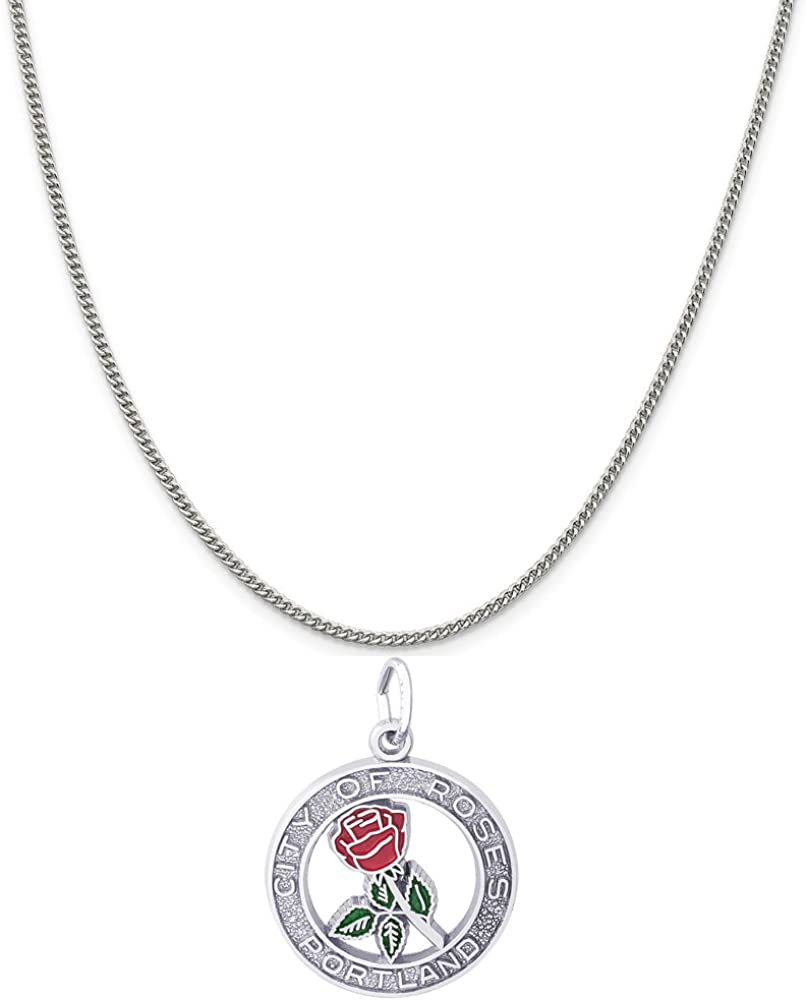 Rembrandt Popular popular Charms Sterling Silver Enameled Portland City Dealing full price reduction Of Roses