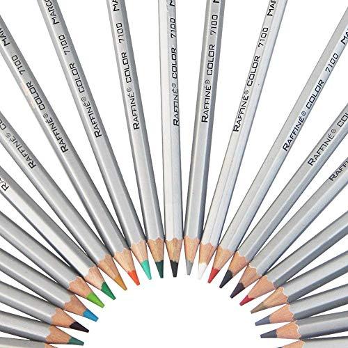 iZiv 48 Couleurs Crayons de couleur Marco Raffiné Crayons d'Artiste Dessin et rouler le crayon pouch, crayons de couleur pour Jardin secret Artiste Sketch