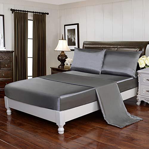 HollyHome - Funda de almohada de satén suave y sedosa (2 unidades)
