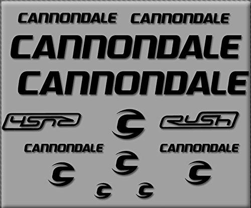 Ecoshirt HC-LSPK-DLSV Adesivi Cannondale Rush R307 Stickers Aufkleber Decals Autocollants Adesivi, Nero