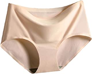 Women's Seamless No Show Panty,Free size,Beige