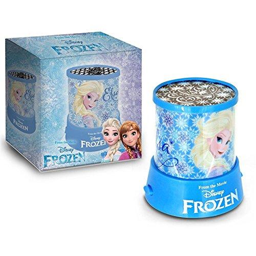 Proyector lighting imágenes luz nocturna Frozen Elsa Anna Disney a pilas paquete regalo – D96537