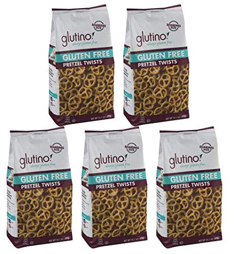 Glutino Gluten Free Pretzel Twists 14.1 oz. Bag (Pack of 5)