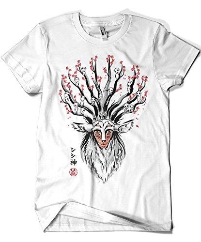 Camisetas La Colmena 2014-Camiseta Studio Ghibli - The Deer God Sumie (Dr.Monekers)