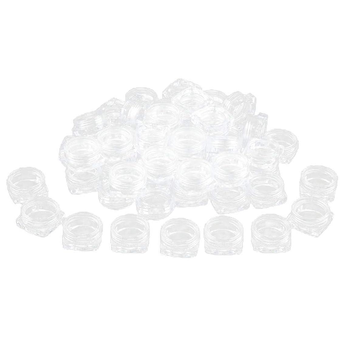嘆願ローン過度のFLAMEER 約50個 化粧ポット ローションジャー サンプルボトル コスメ 化粧品 詰替え容器 クリア - 2g